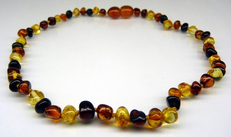 multicolor amber teething necklace