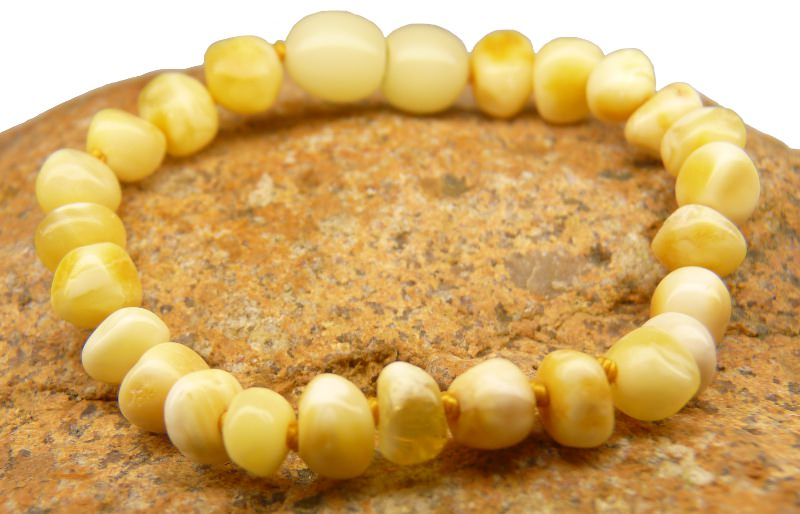 white amber teething bracelets