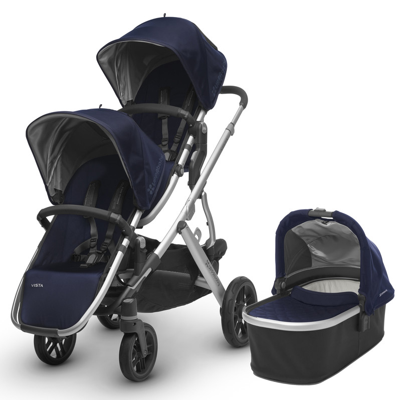 2017 UPPAbaby Vista Double Stroller w/ Bassinet