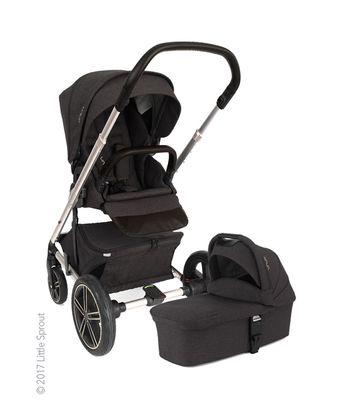 Nuna MIXX2 Stroller in SUITED Collection (w/ Bassinet, Footmuff, Rain Cover & Adapters)