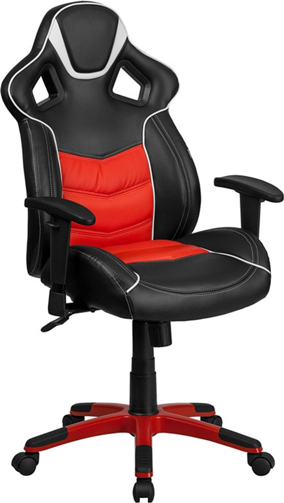 flash furniture high back rosso corsa red executive gaming racing