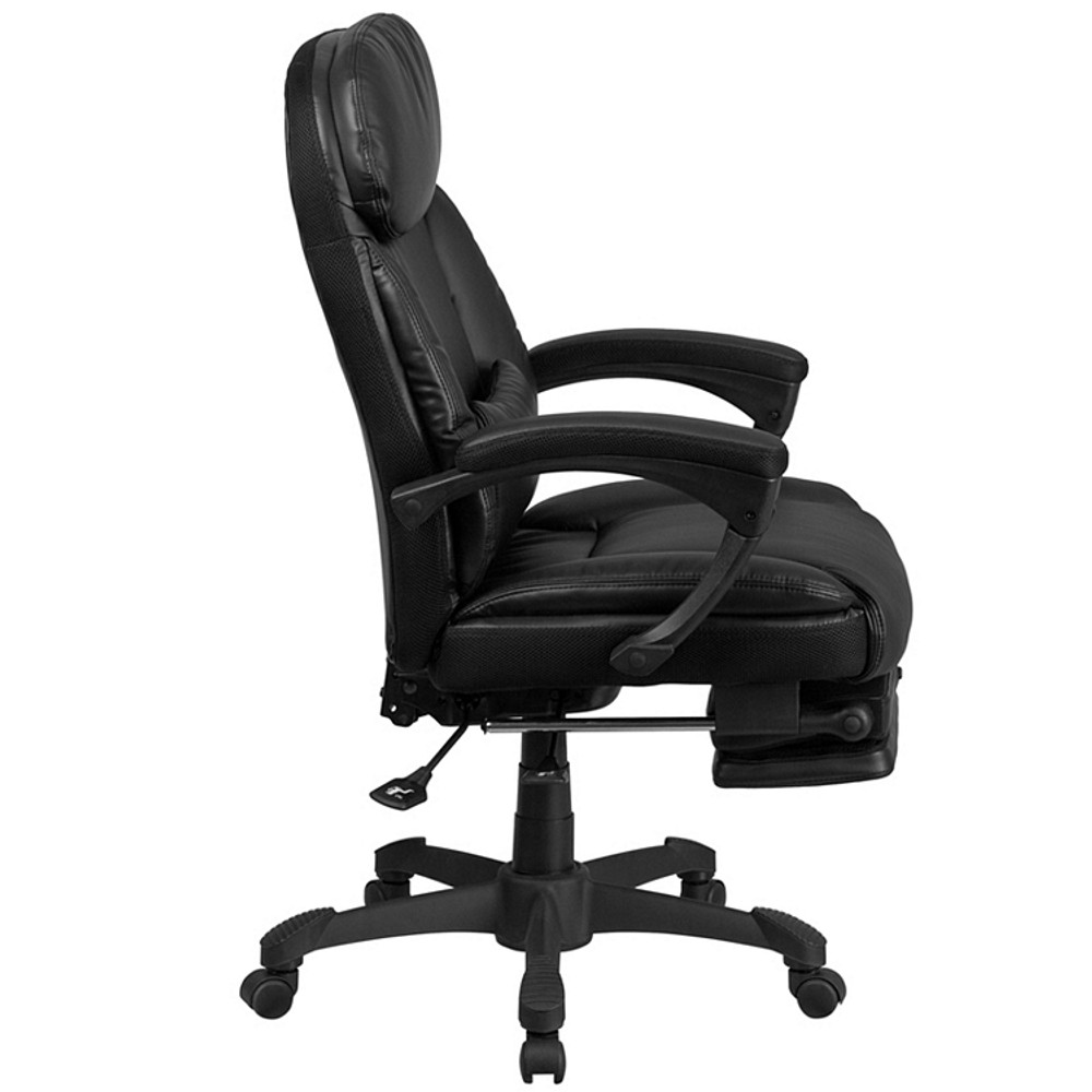 ... Flash Furniture High Back Black Leather Executive Reclining Swivel Chair  With Comfort Coil Seat Springs And ...