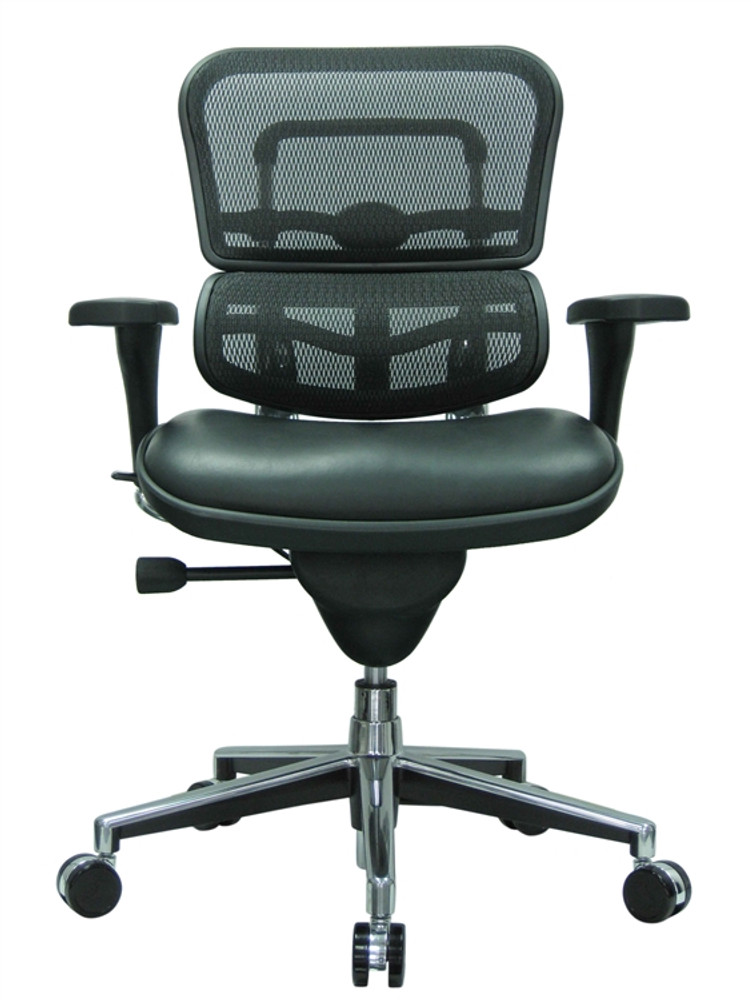 Eurotech Ergohuman Mid Back Office Chair in Black Mesh and Black Leather  sc 1 st  Seating Mind & Eurotech Ergohuman Mid Back Office Chair in Black Mesh and Black ...