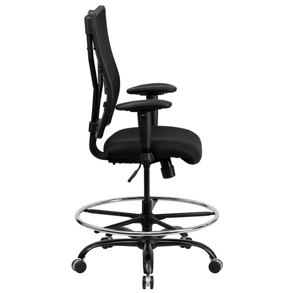 Rated Black Mesh Drafting Chair With ...