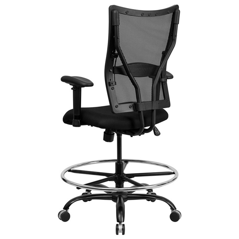 ... Flash Furniture HERCULES Series Big U0026 Tall 400 Lb. Rated Black Mesh Drafting  Chair With ...