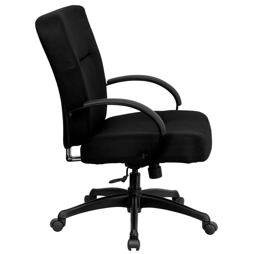 Rated Black Fabric Executive Swivel Chair Flash Furniture HERCULES Series  Big U0026 Tall 400 Lb. Rated Black Fabric Executive Swivel Chair ...