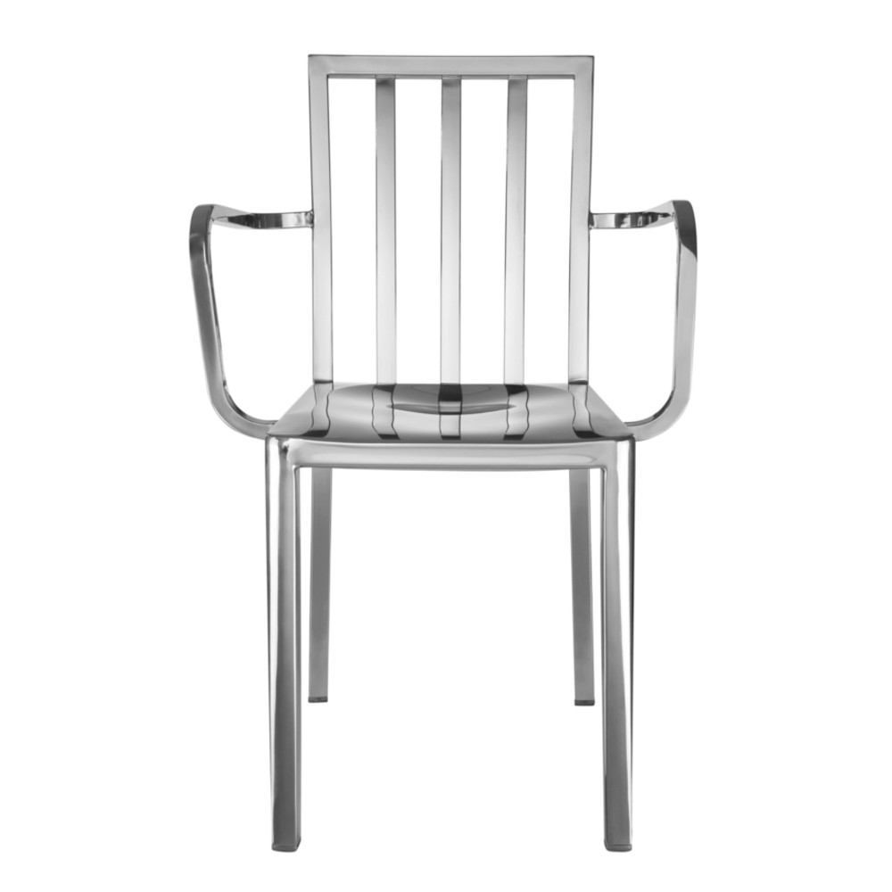 ... Fine Mod Eve Steel Dining Arm Chair Polished Steel ...