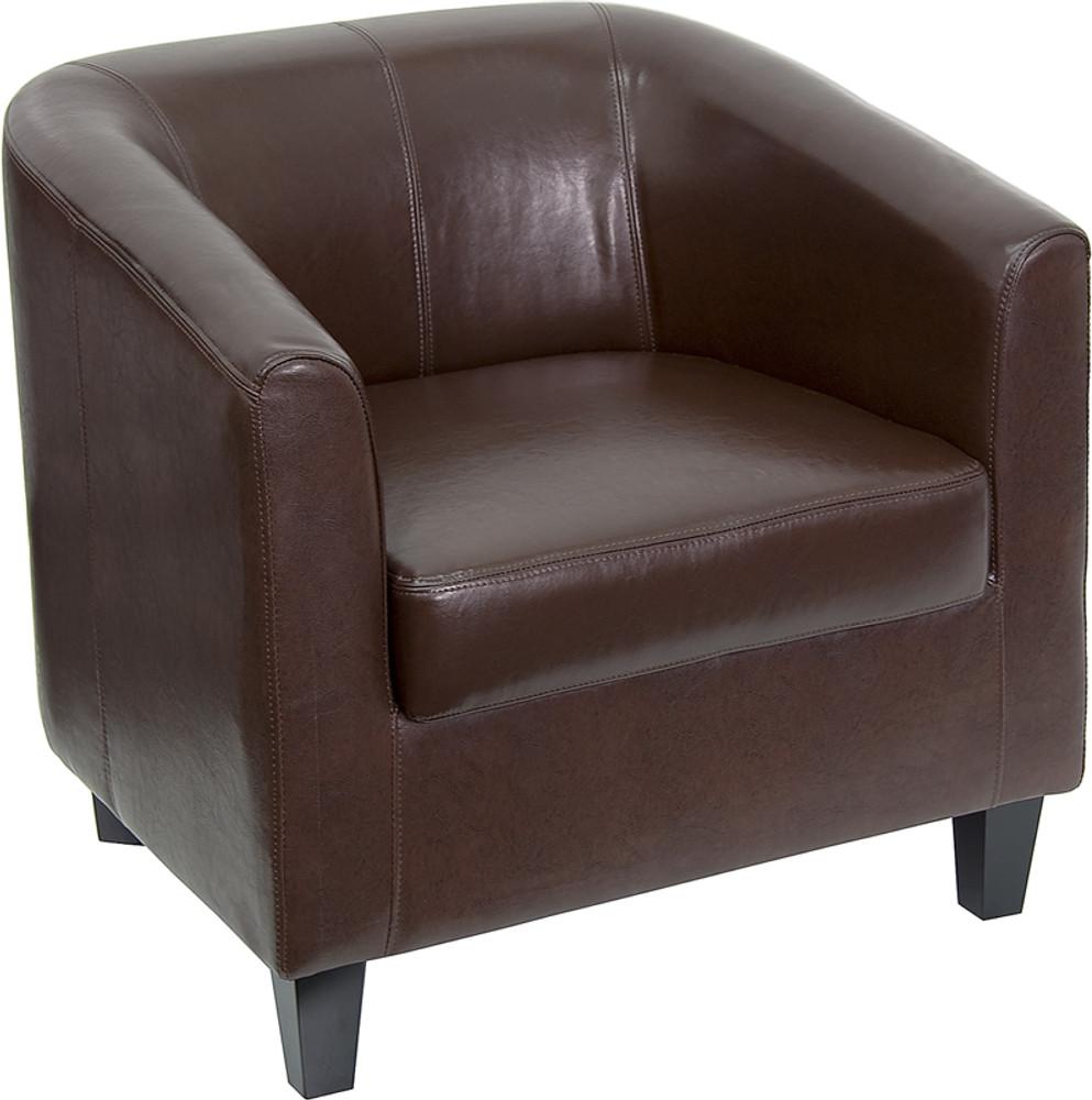 Lemoderno Brown Leather Lounge Chair