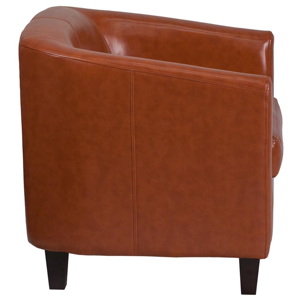 Lemoderno Cognac Leather Lounge Chair ...