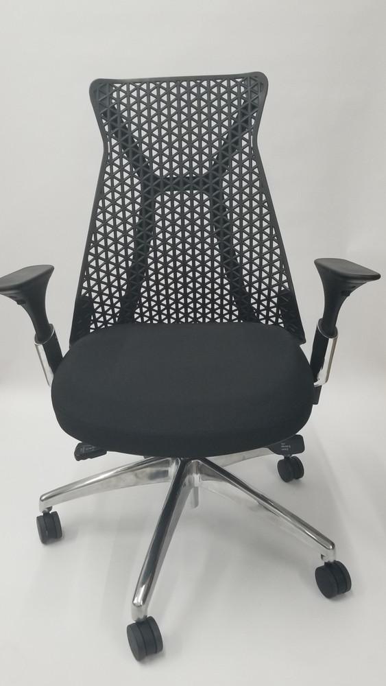 Lemoderno Santer Office Chair Flex Back Polished Base