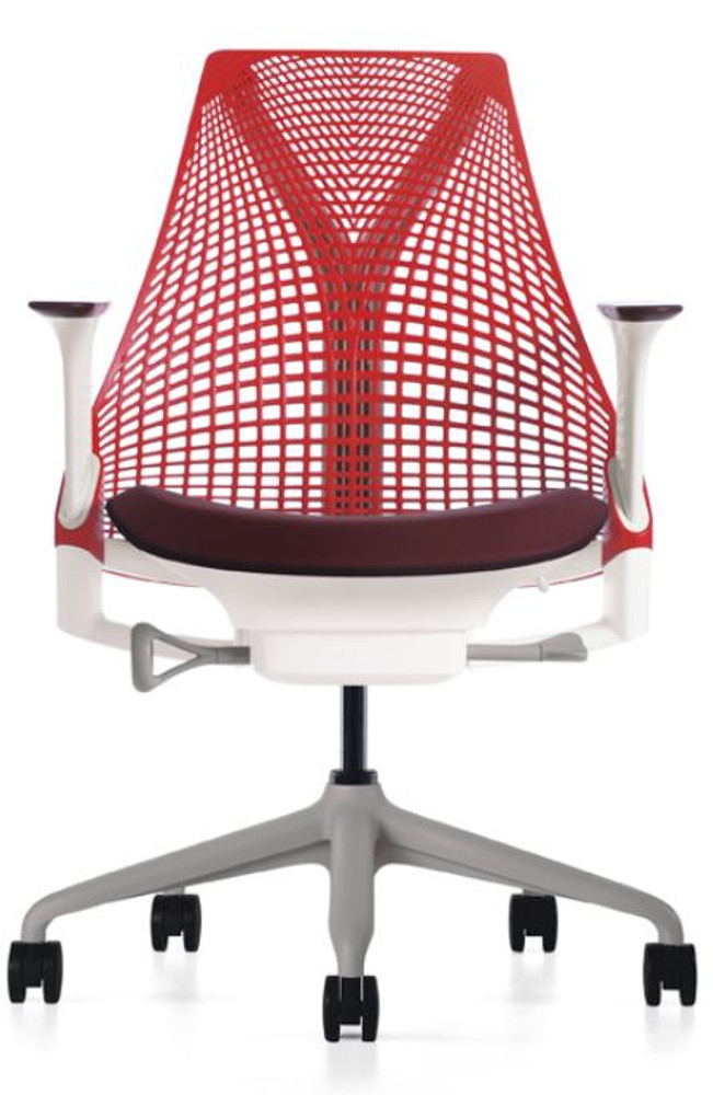 Herman Miller Sayl Chair Red and Black Seat