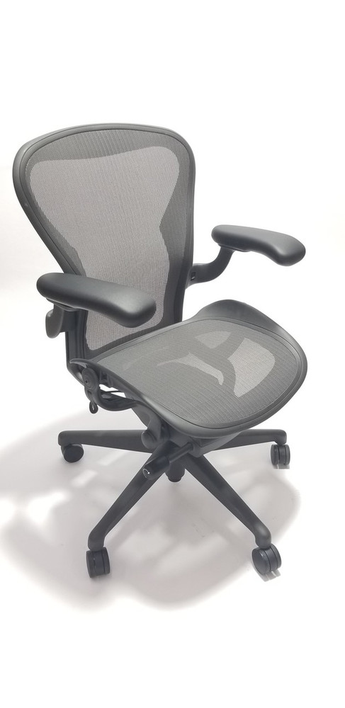 herman miller aeron chair v2 with fully adjustable arms - Herman Miller Aeron Chair