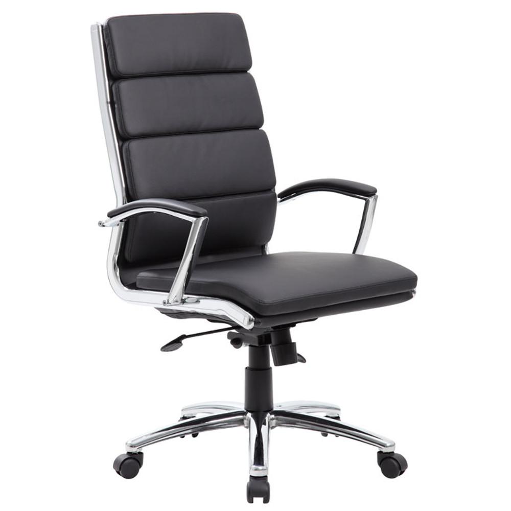 Boss Executive CaressoftPlus™ Chair with Metal Chrome Finish B9471-BK