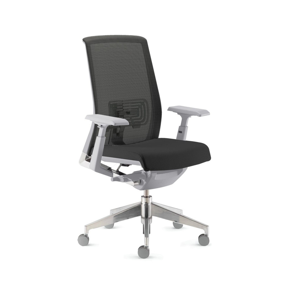 Haworth Very Chair Gray Frame Gray Seat Black Mesh Back Fully Adjustable Model