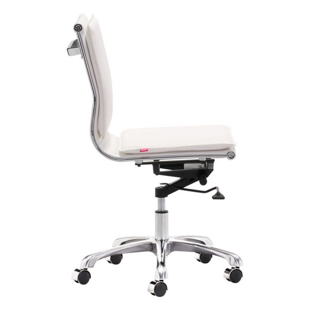 zuo modern lider plus armless office chair white