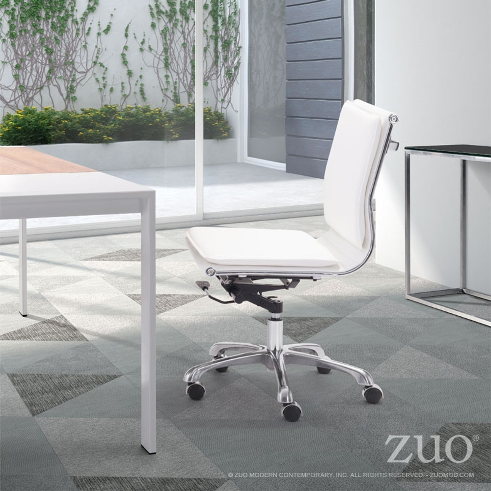 ... Zuo Modern Lider Plus Armless Office Chair White ... & Zuo Modern Lider Plus Armless Office Chair White - seatingmind.com