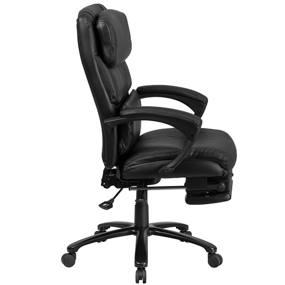 Flash Furniture High Back Black Leather Executive Reclining Swivel