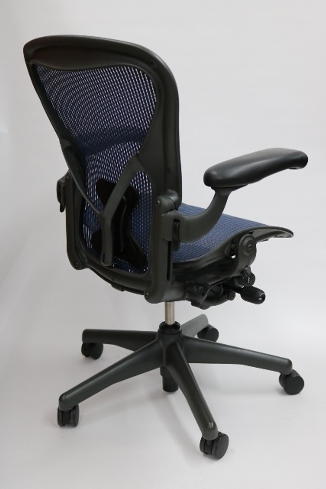 Herman Miller Aeron Chair Fully Featured Cobalt Blue W