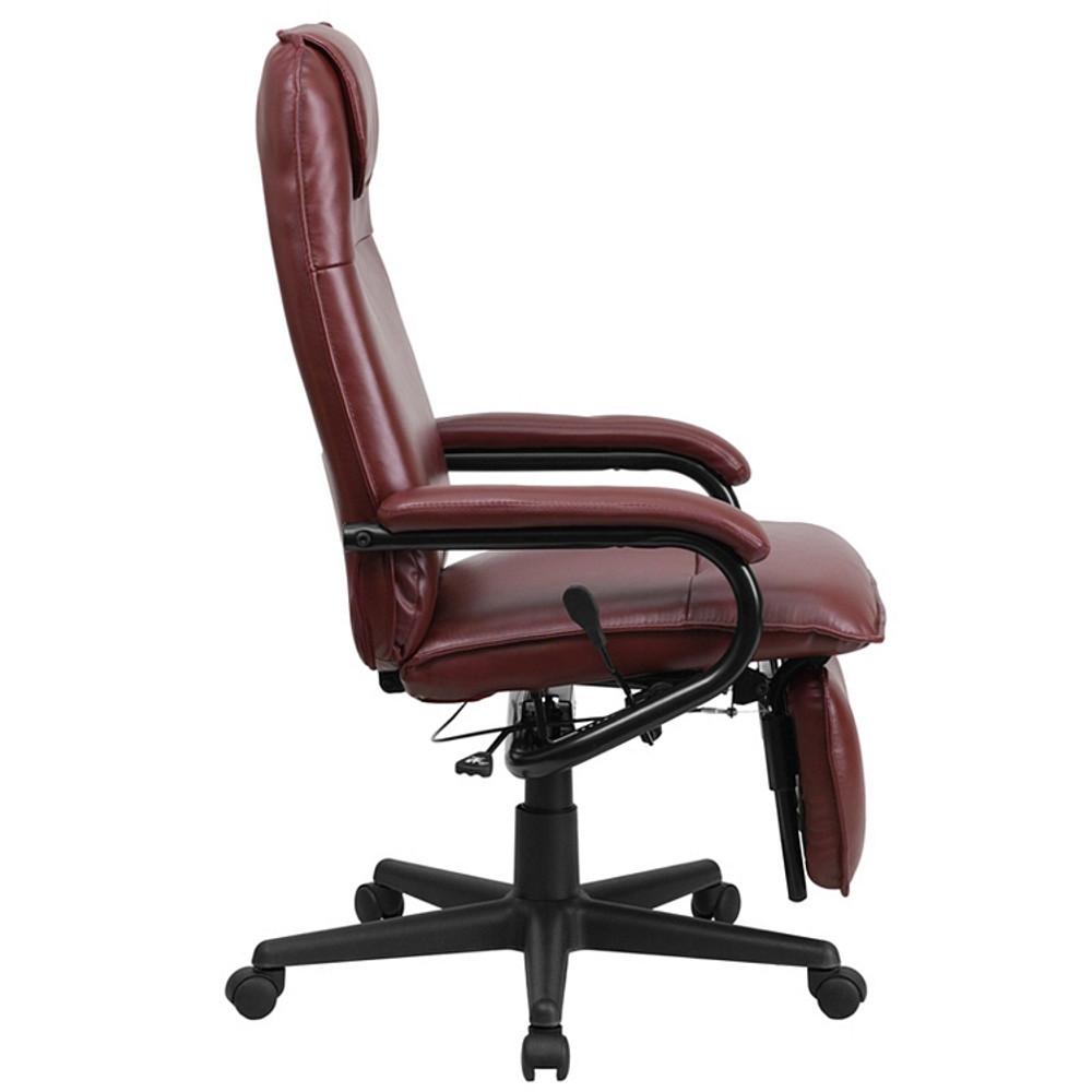 flash furniture high back burgundy leather executive reclining