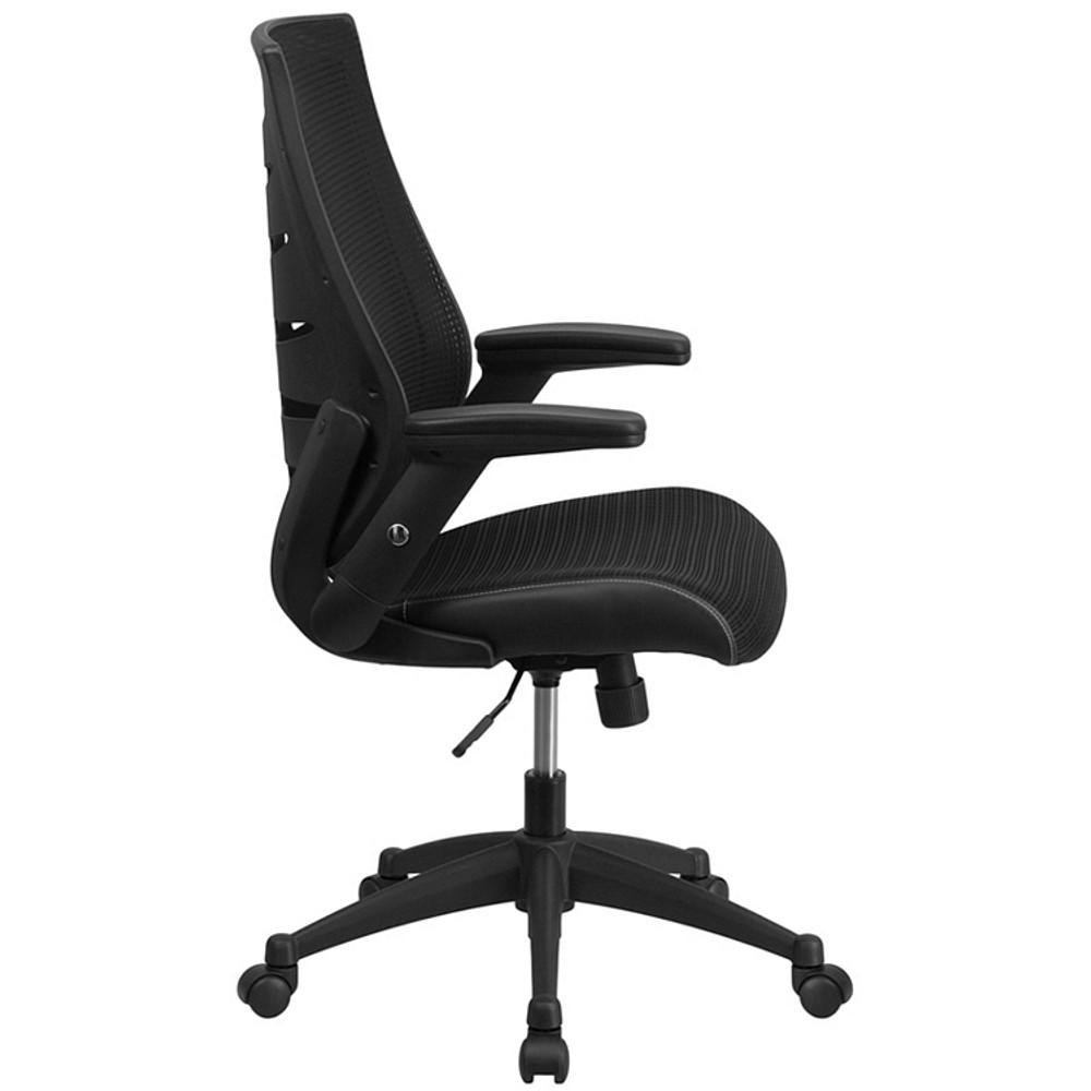 flash furniture high back designer black mesh executive swivel chair