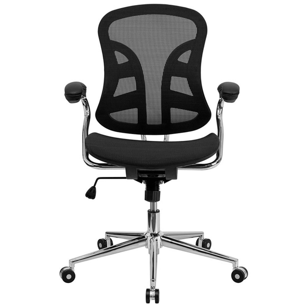 flash furniture mid back transparent black mesh swivel task chair