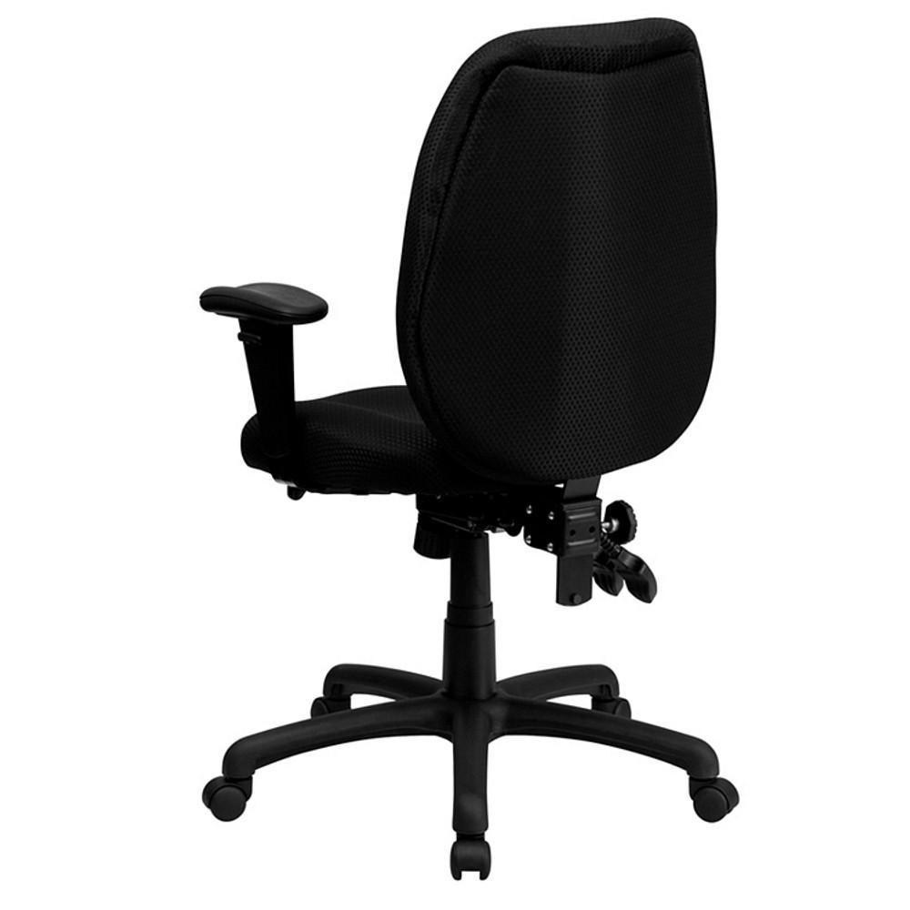 Flash Furniture High Back Black Fabric Multifunction
