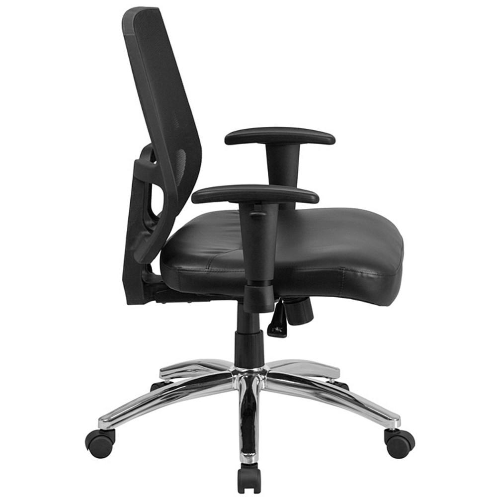 ... Flash Furniture HERCULES Series Big U0026 Tall 400 Lb. Rated Black Mesh  Mid Back ...