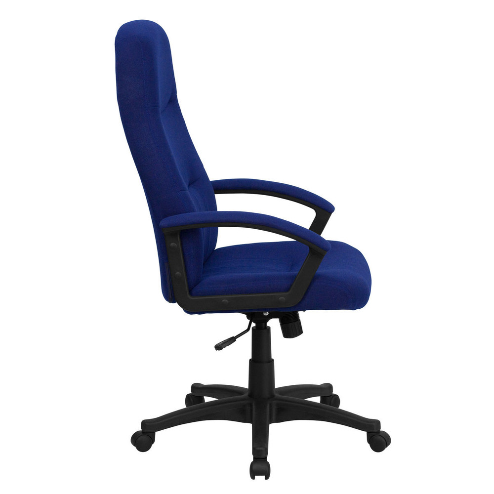 flash furniture high back navy blue fabric executive swivel chair