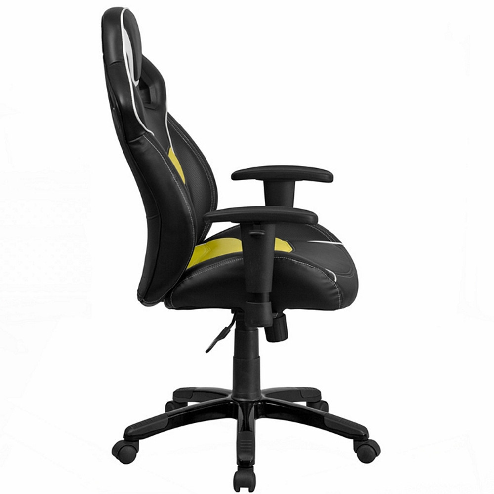 ... Flash Furniture High Back Canary Yellow Executive Gaming Racing Swivel  Chair With Comfort Coil Seat ...
