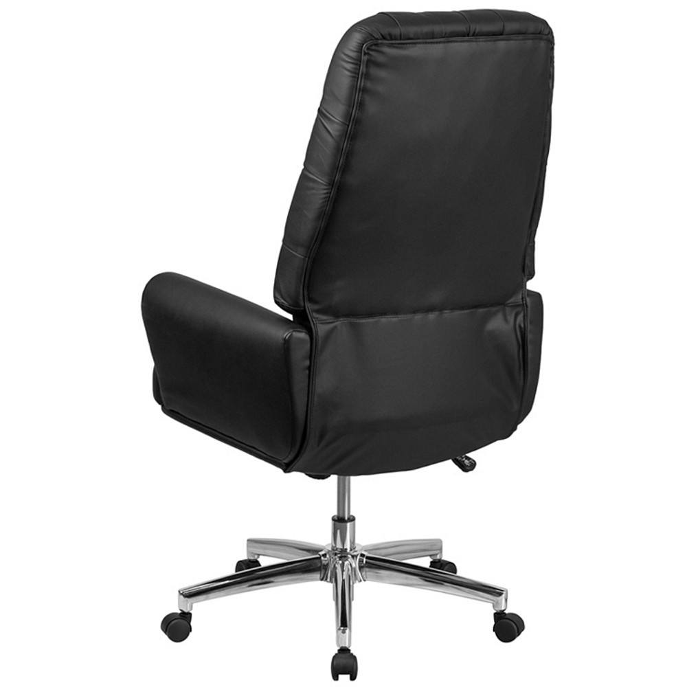 ... Flash Furniture High Back Traditional Tufted Black Leather Executive  Swivel Chair With Arms ...