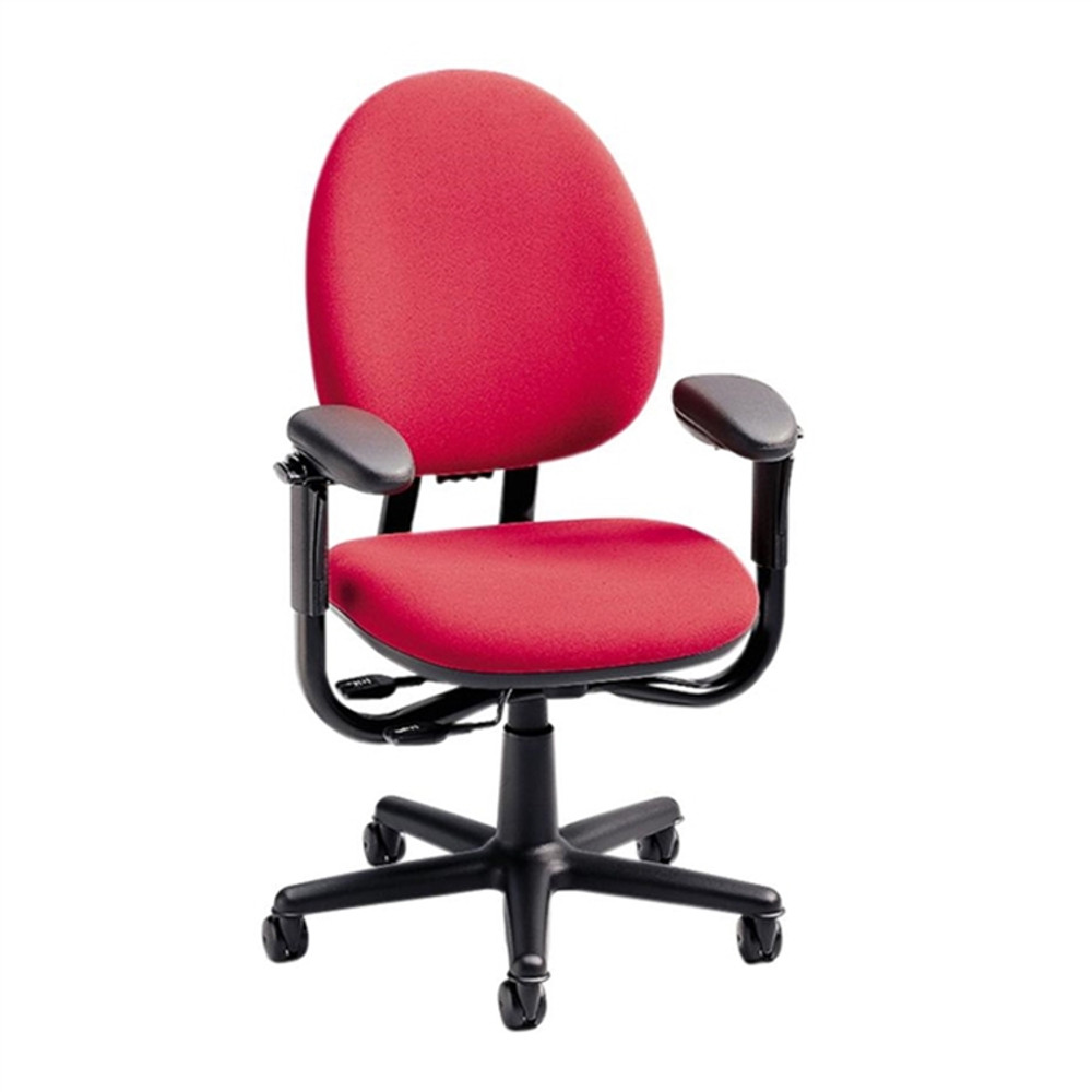 Steelcase Criterion Chair In Fabric In Red Fabric