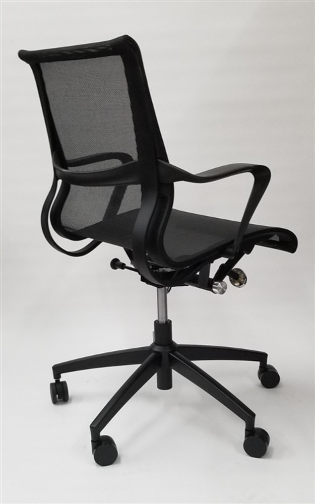 ... Flash Furniture Conference Eames Setu Style Mid Back Task Chair In  Black ...