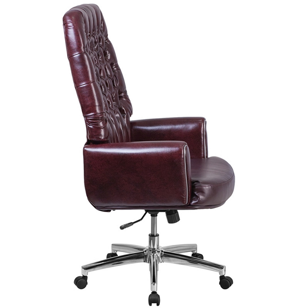flash furniture high back traditional tufted burgundy leather
