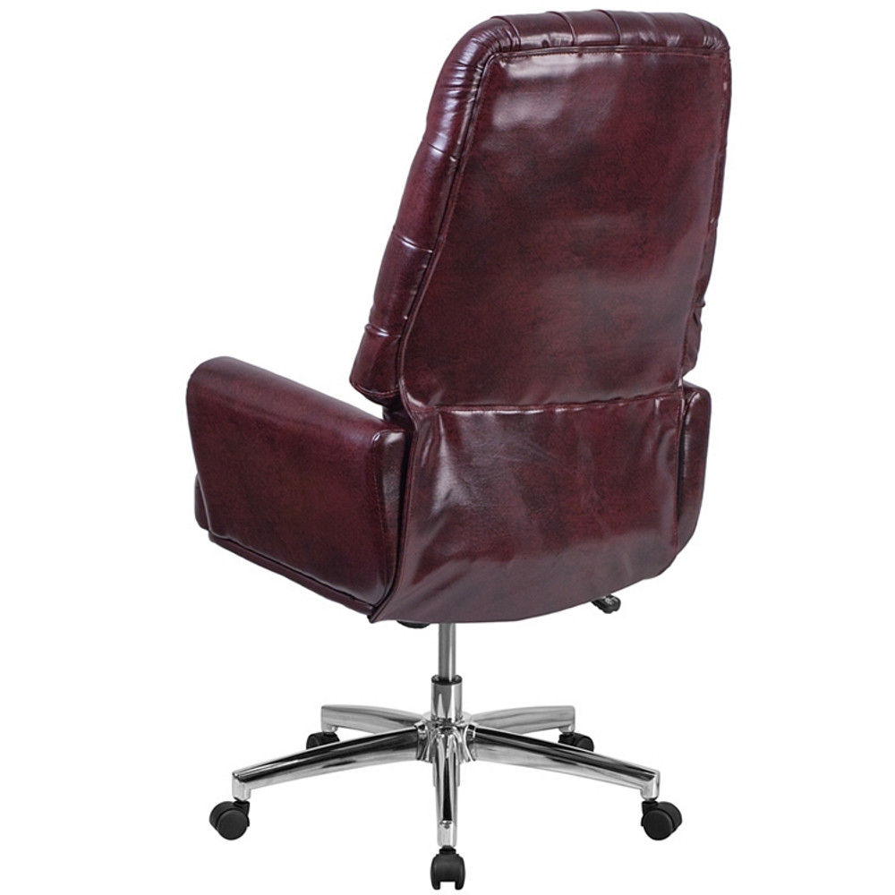 ... Flash Furniture High Back Traditional Tufted Burgundy Leather Executive Swivel  Chair With Arms ...