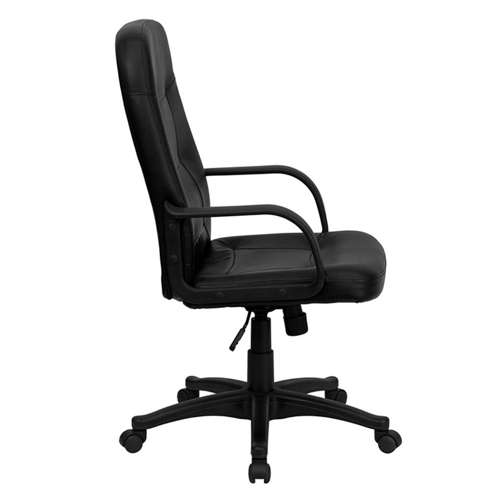 ... Flash Furniture High Back Black Glove Vinyl Executive Swivel Chair With  Arms ...