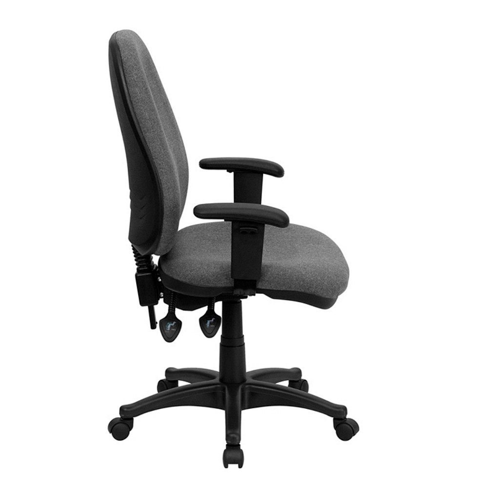 flash furniture high back gray fabric executive swivel chair with