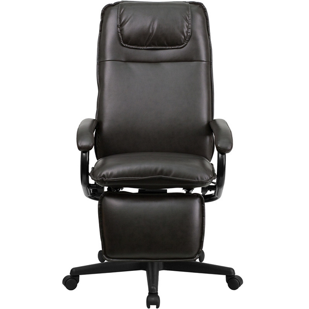 ... Flash Furniture High Back Brown Leather Executive Reclining Swivel  Chair With Arms