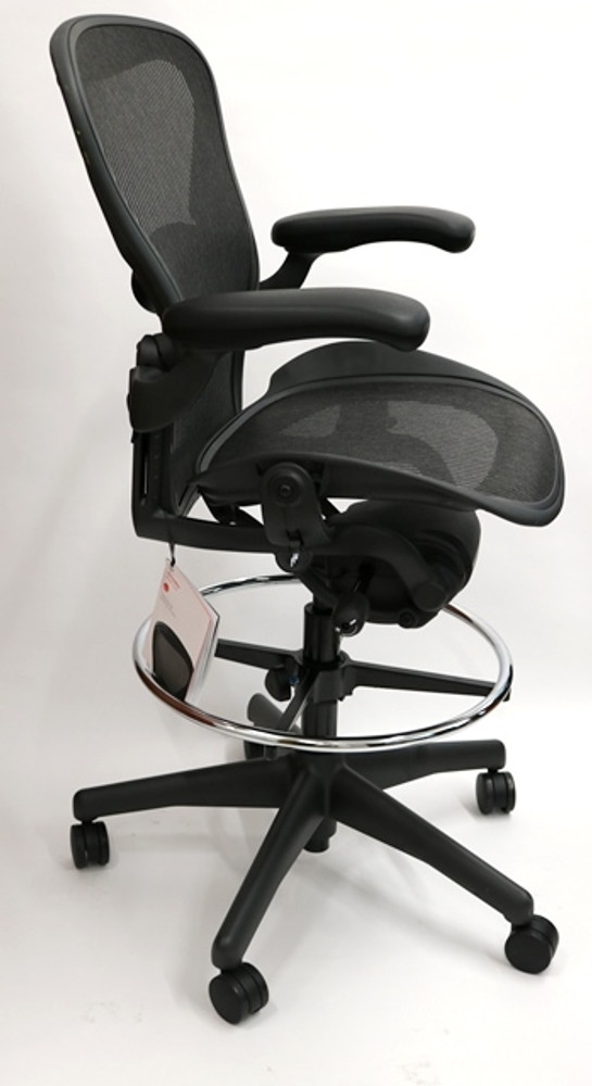 Herman Miller Aeron Drafting Stool Size B Chair Fully Featured