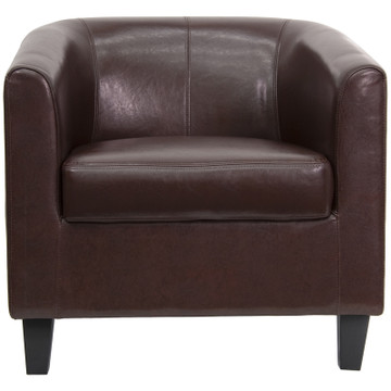 Lemoderno Brown Leather Lounge Chair
