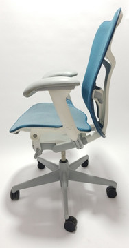 Herman Miller Mirra V2 Chair In Teal Fully Adjustable Model With Adjustable Lumbar Support