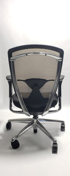 Nuova Contessa Teknion Beige Mesh Back and Black Seat, Fully Adjustable Model