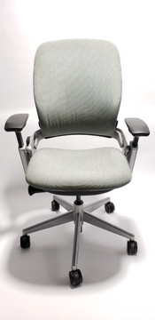 Steelcase Leap Chair V2 In Mint/Green Fabric and In Titanium Base