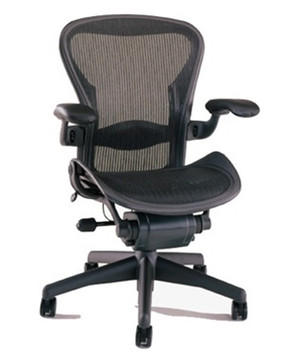 Herman Miller Aeron Chair Size B (or C) Semi Loaded In Black