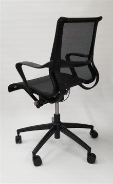 Flash Furniture Conference Eames Setu Style Mid Back Task Chair in Black