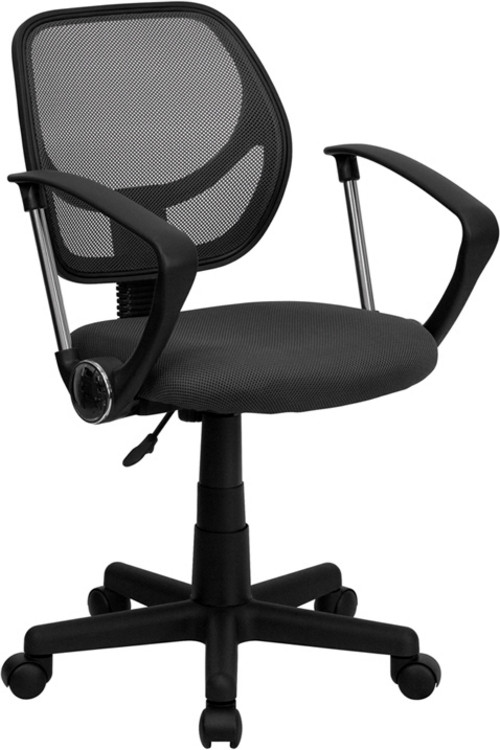 Flash Furniture Gray Mesh Swivel Task Chair with Arms