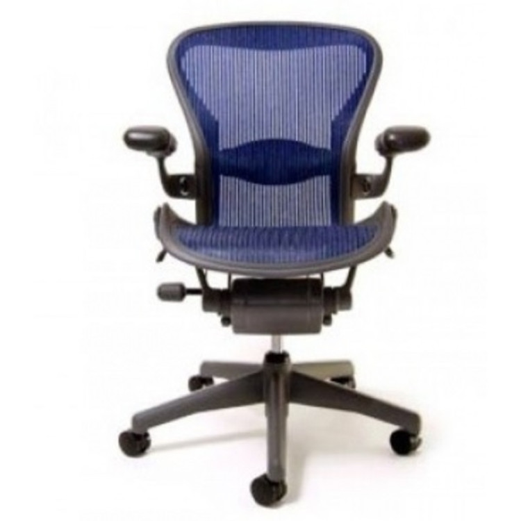 Herman Miller Aeron Chair Size B Fully Featured Cobalt Blue