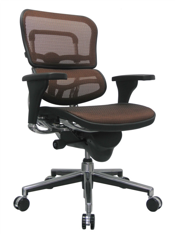 Eurotech Ergohuman Mid Back Office Chair in Orange Mesh