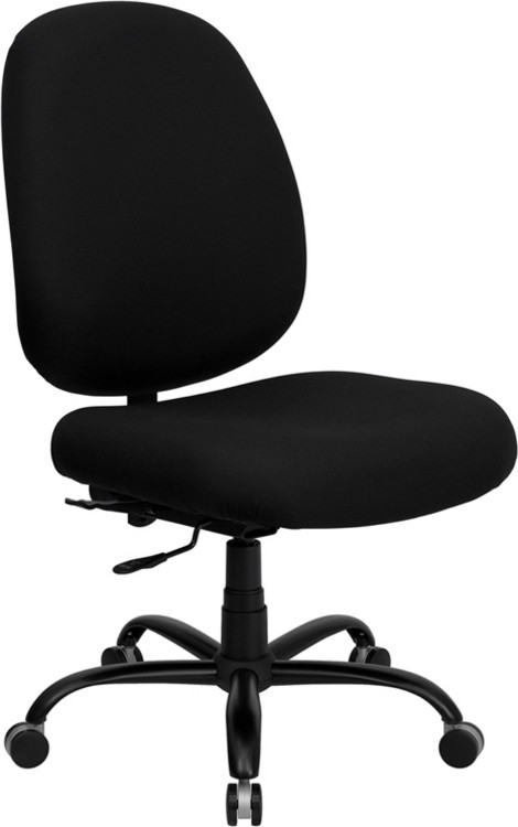 Flash Furniture HERCULES Series Big & Tall 400 lb. Rated Black Fabric Executive Swivel Chair 1