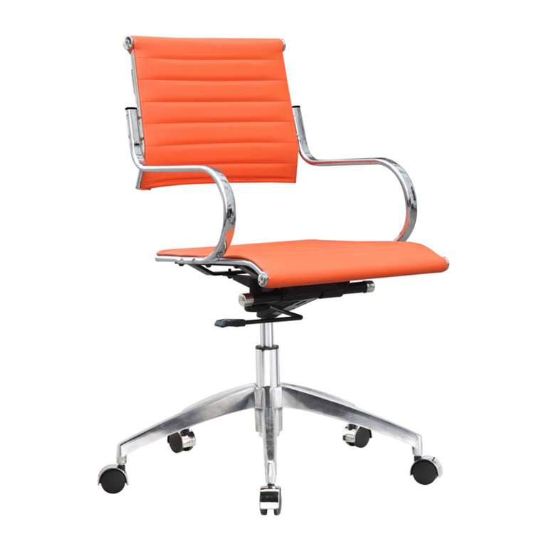 Fine Mod Flees Office Chair Mid Back, Orange