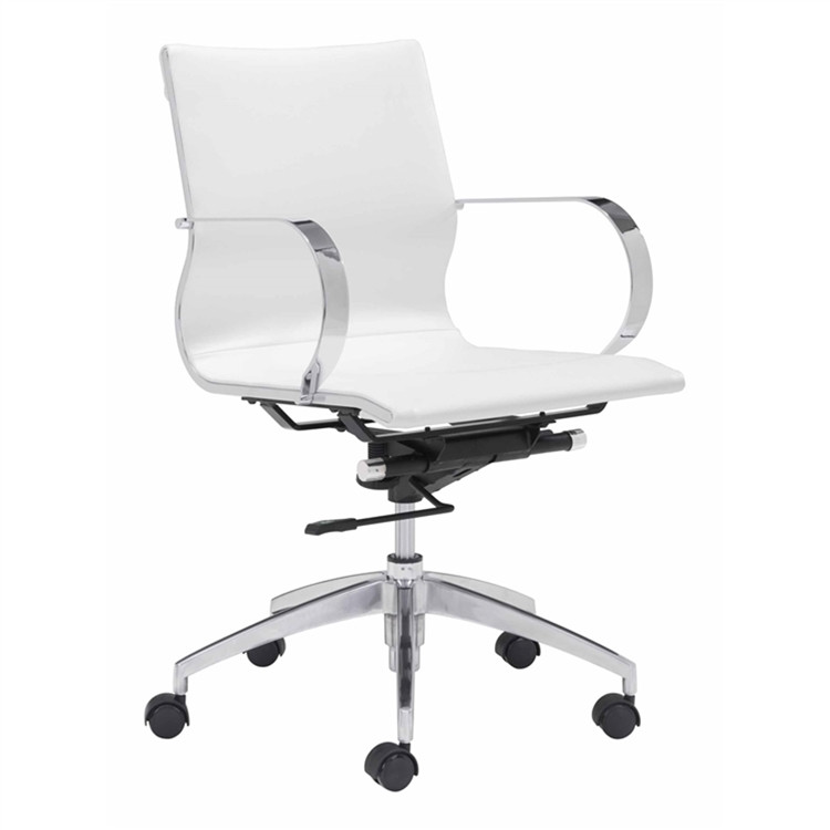 Fine Mod Conference Eames Style Office Chair Mid Back, White